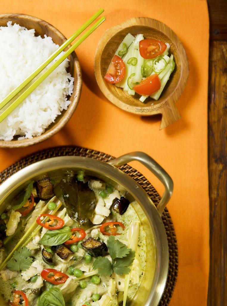 jak zrobić szybkie zielone curry z kurczakiem