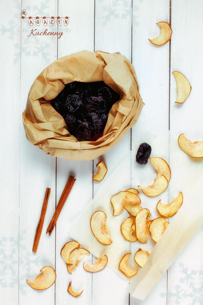kompot jablka sliwki cynamon