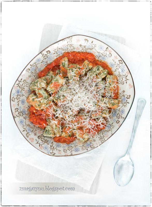 Leniwe gnocchi z ricottą i szpinakiem