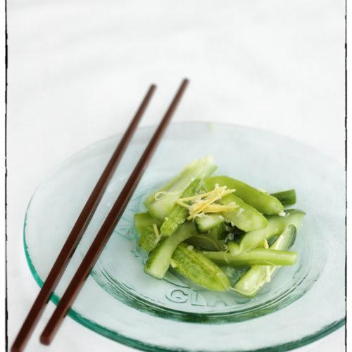 Ogórkowa sałatka z imbirem po chińsku