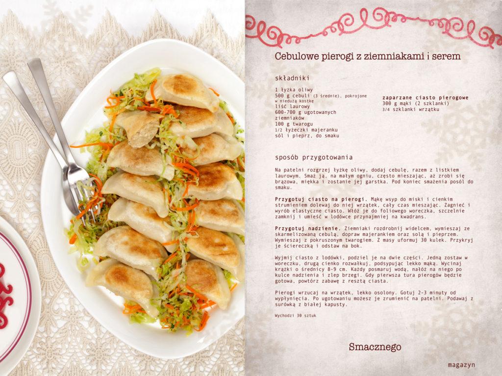 Przepis na pierogi z ziemniakami, twarogiem i karmelizowaną cebulą