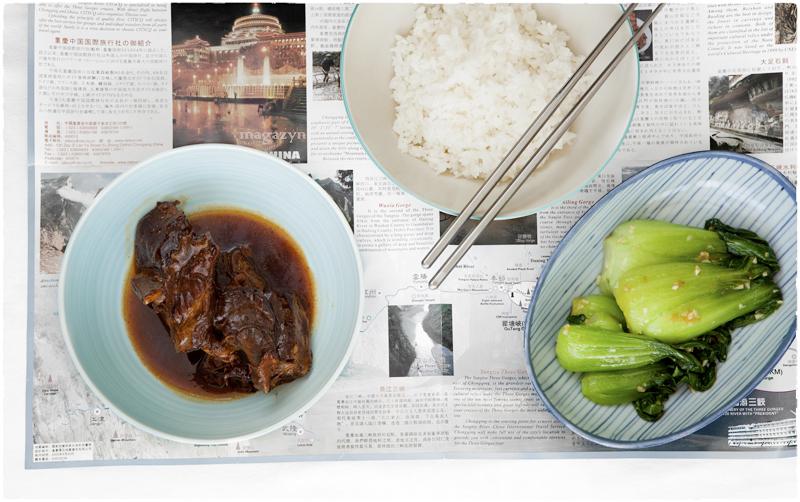 Wołowina duszona w czarnym occie ryżowym
