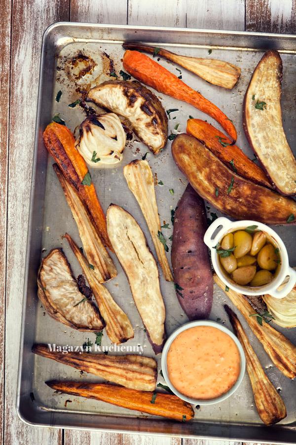 Pieczone zimowe warzywa