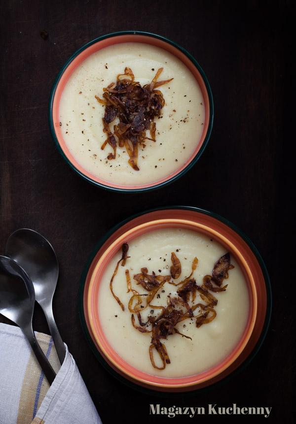 Kremowa zupa ziemniaczana z chrzanem