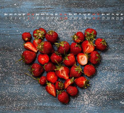Kochamy truskawki, czyli tapeta na czerwiec