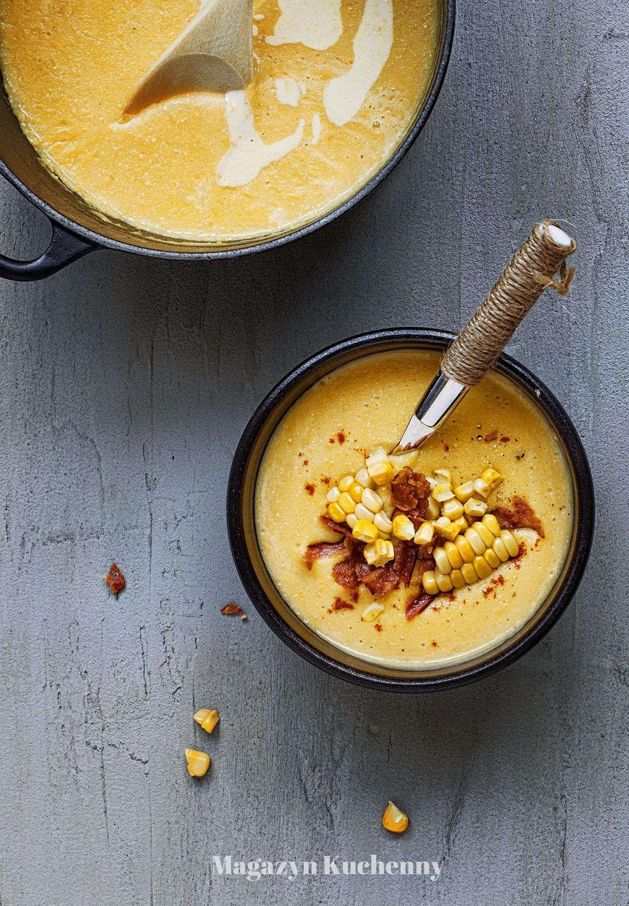 Kremowa zupa z kukurydzy