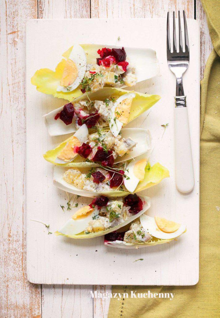 MK salatka sledziowa z ziemniakami i buraczkami