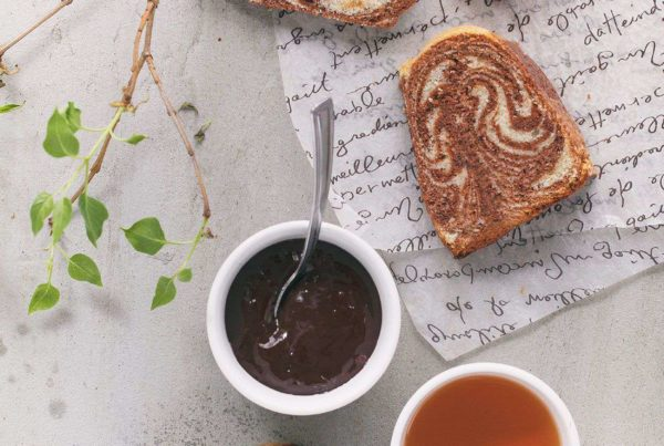 ciasto zebra z kawa i czekoalda