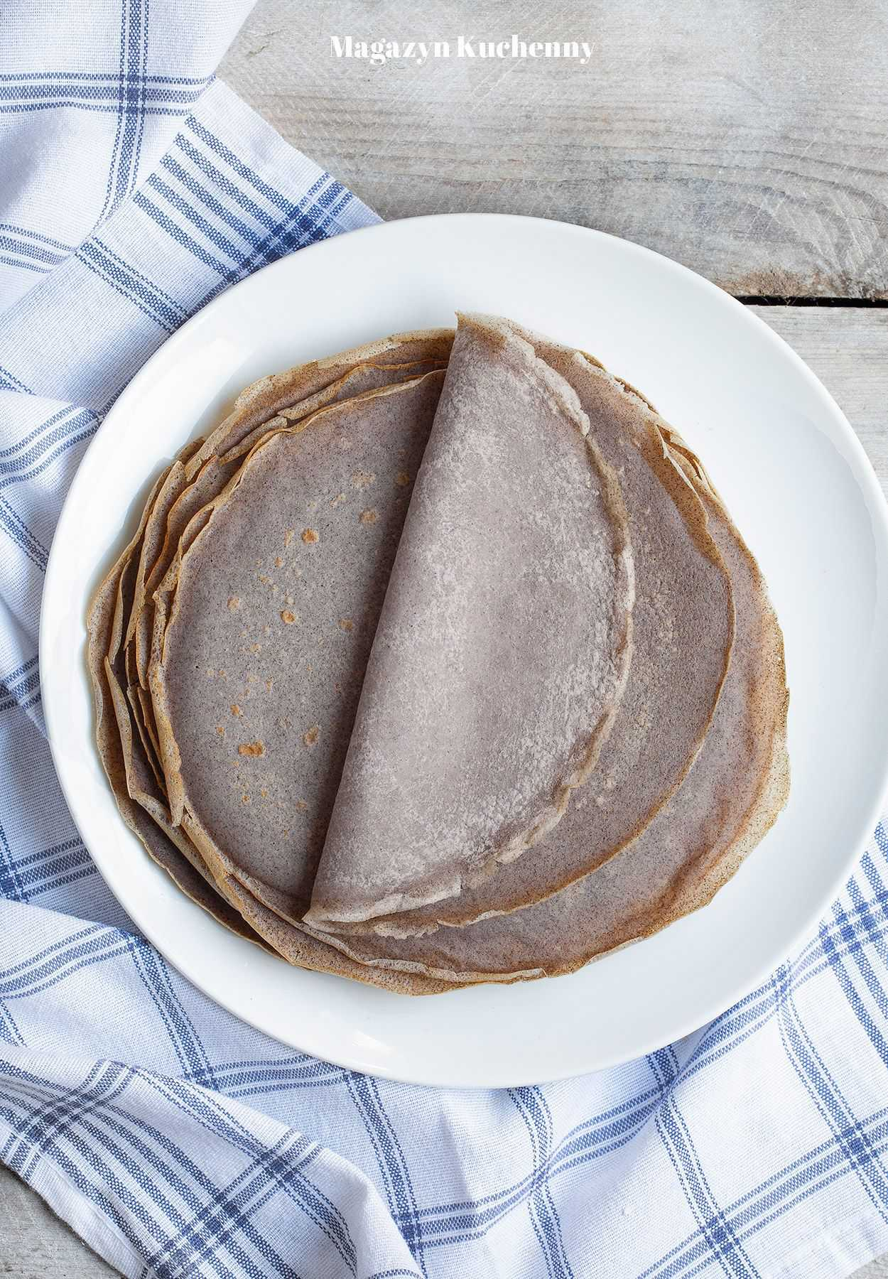 Naleśniki gryczane z mąki pełnoziarnistej (bezglutenowe)