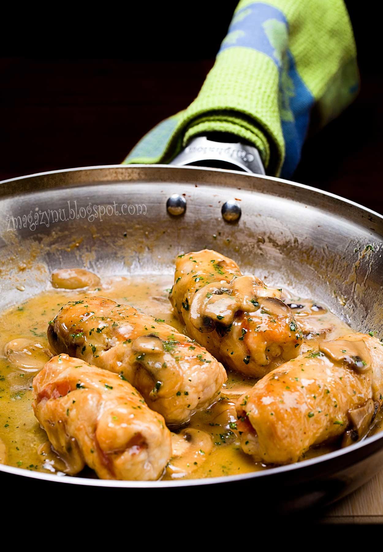 Roladki z kurczaka z likierem Galliano