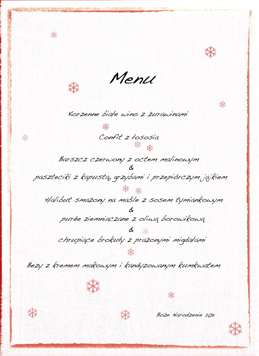 Świąteczne menu 2011