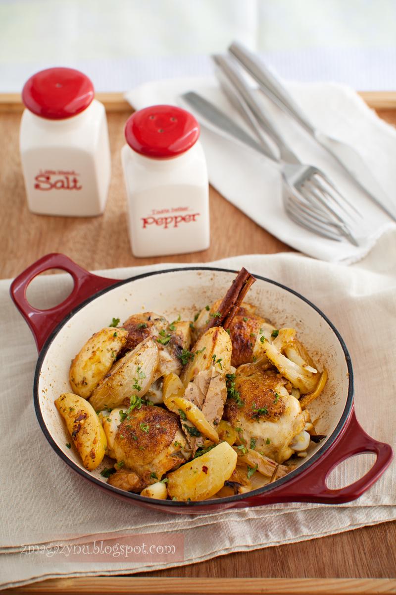 cytrynowy kurczak z ziemniakami cynamonem i oregano