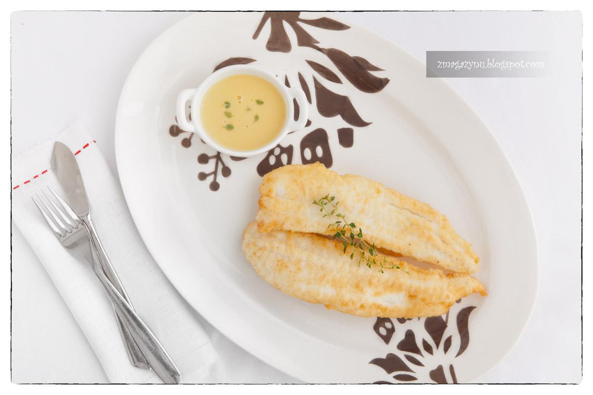 halibut z sosem tymiankowym