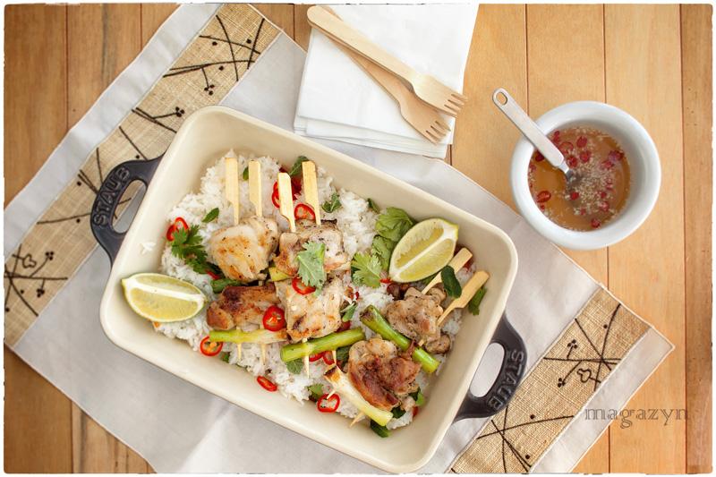 Szaszłyki z kurczaka po wietnamsku w pieprzowej marynacie