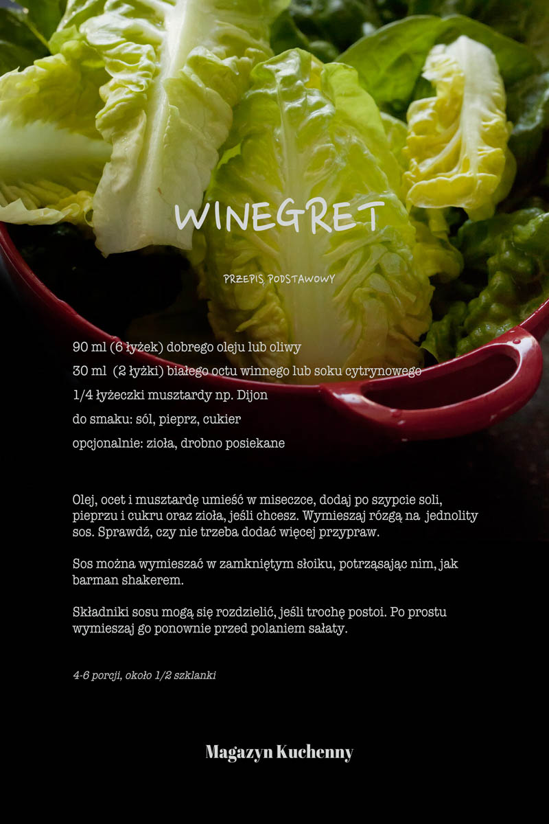 Sos winegret-przepis