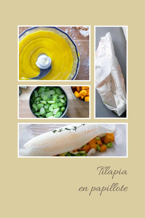 Tilapia w papilotach i sos rouille