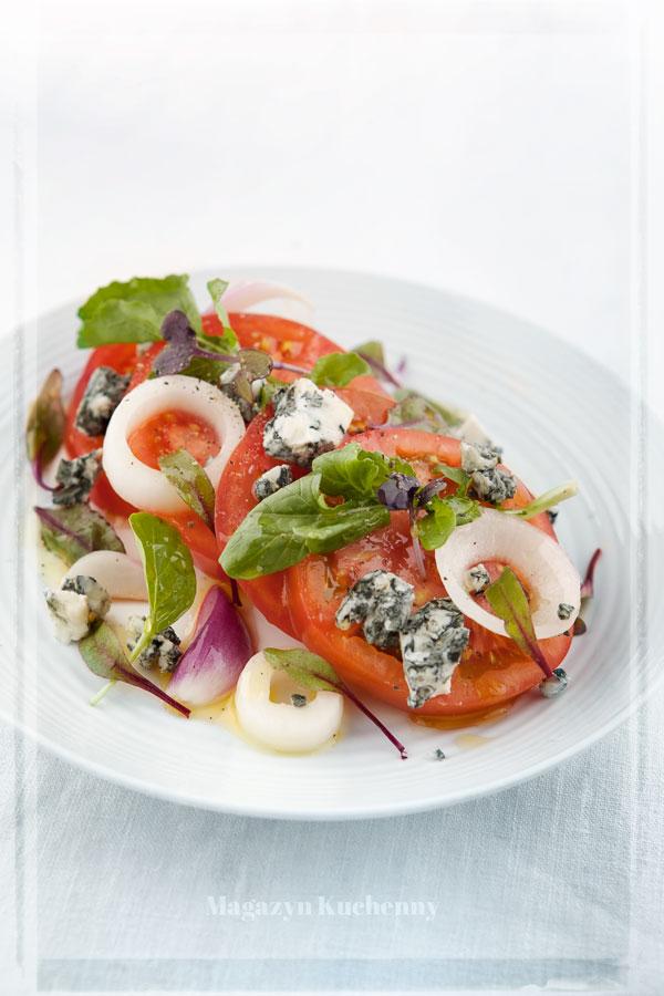 Sałatka pomidorowa z gorgonzolą