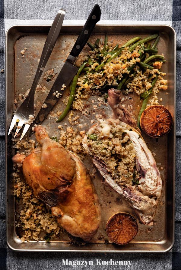Kurczak nadziewany quinoa