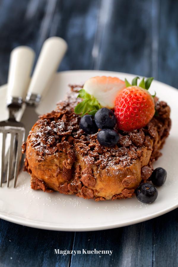 Czekoladowy tost francuski – pieczony