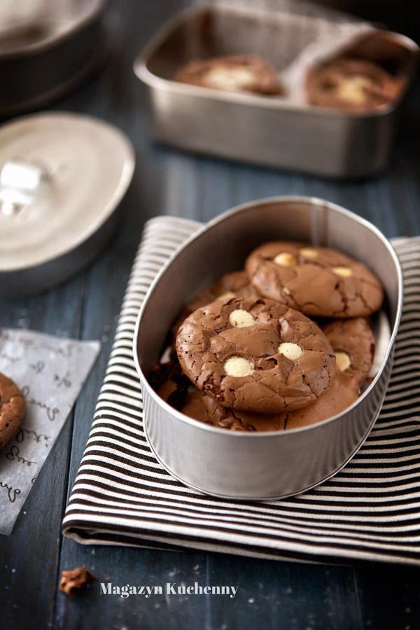 Podwójnie czekoladowe ciastka