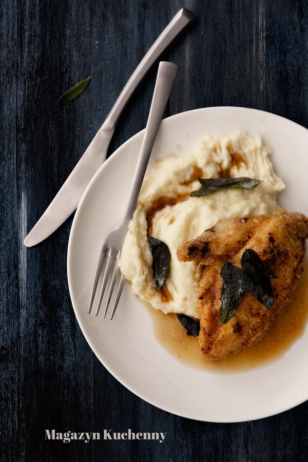 Pierś z kurczaka z purée ziemniaczano-kalafiorowym