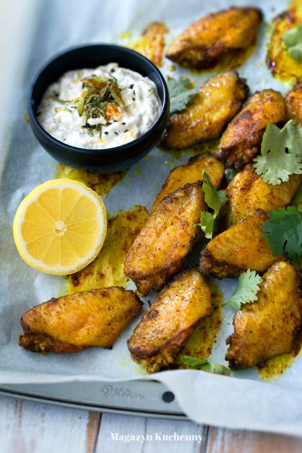 Indyjskie skrzydełka z kurczaka