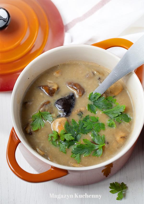 Zupa grzybowa. Zupa ze świeżych grzybów.