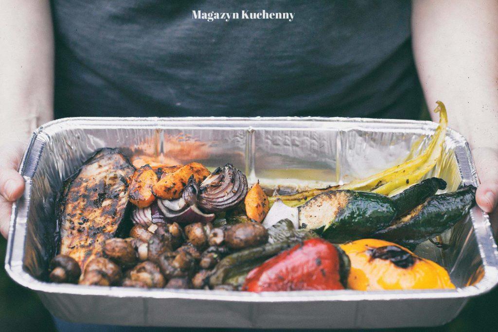 warzywa i pieczarki z grilla