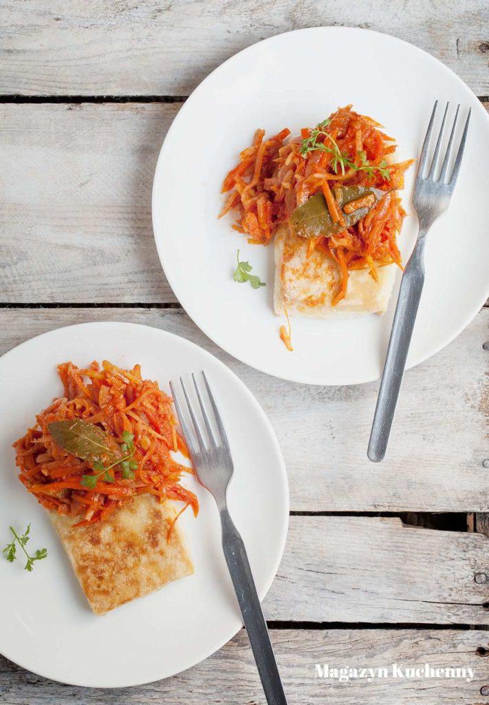 Tofu po grecku, wegańska wersja ryby po grecku.