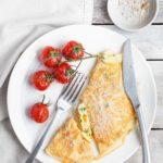 Prosty omlet z serem