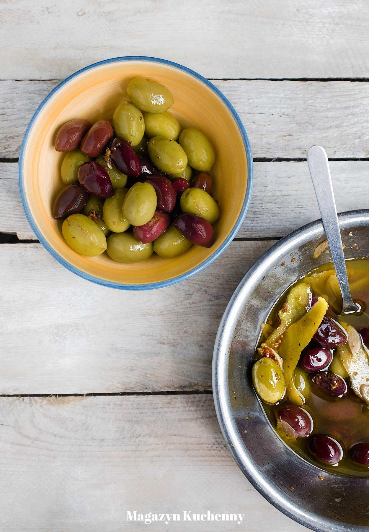 Oliwki marynowane z cytryną i kolendrą