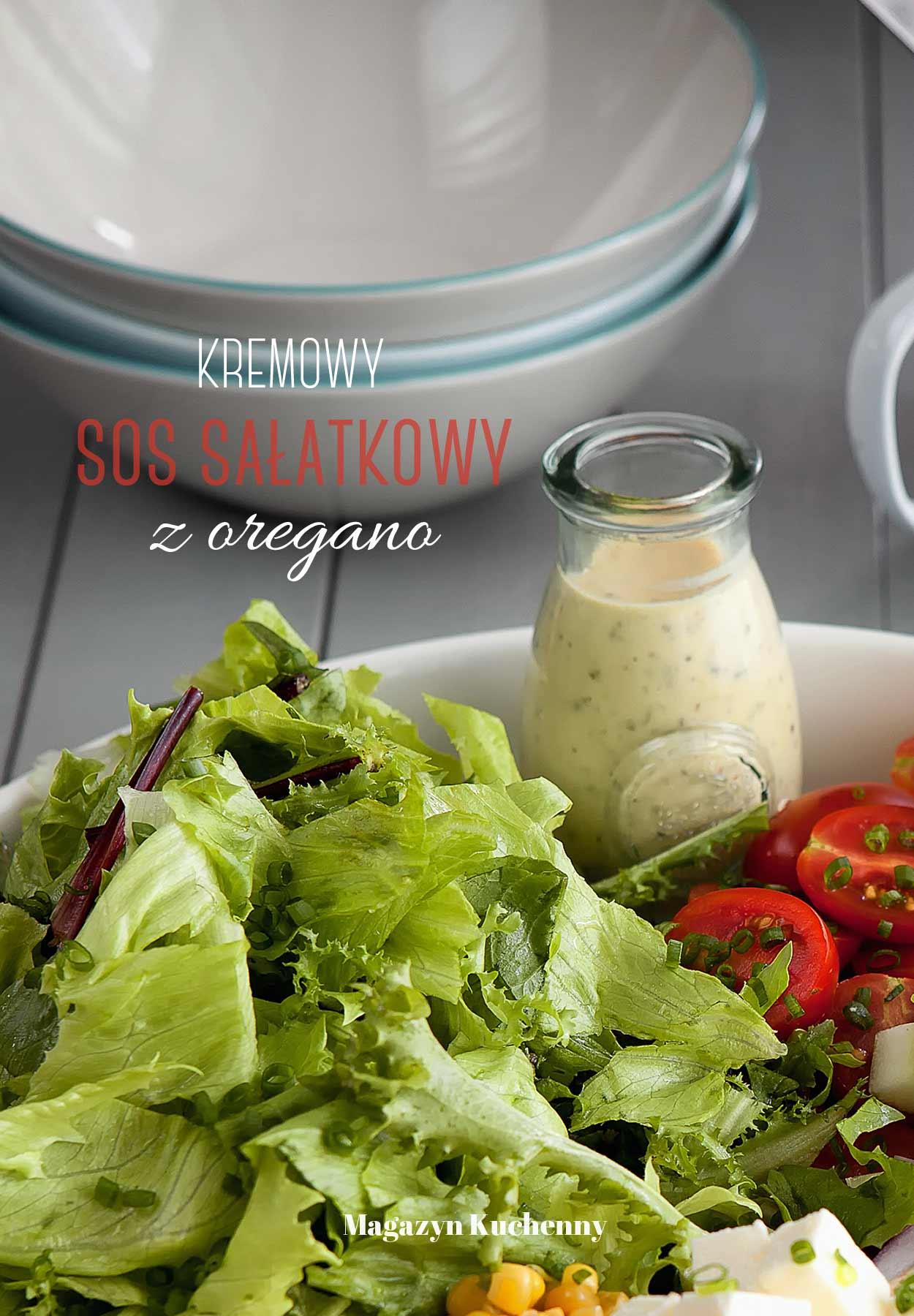 Kremowy sos sałatkowy z oregano